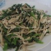 Jiucai Chao Baiye[Garlic chives-beancurd stirfry]