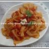 Farfelle al arrabbiata- Farfelle in Spicy Tomato Sauce