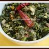 Microwave Greens-Lentil Stirfry