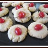 Eggless Cherry Biscuits