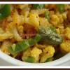 Gingered Cauliflower- Capsicum Sabzi