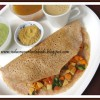 Stuffed Vegetable - Ragi Dosa