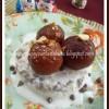 Chocolate Jamuns and Choco- Vanilla Ice Cream