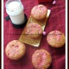 Eggless Jam Swirl Muffins