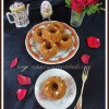 Eggless Whole Wheat - Jaggery Cherry Mini Bundt Cake