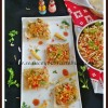 Pappad Canape | Puffed Rice Salad on Crisps