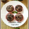 Eggless Chocolate and Mint Flavored Cupcakes Recipe