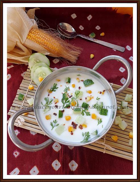 Corn Cucumber Raita for CCC