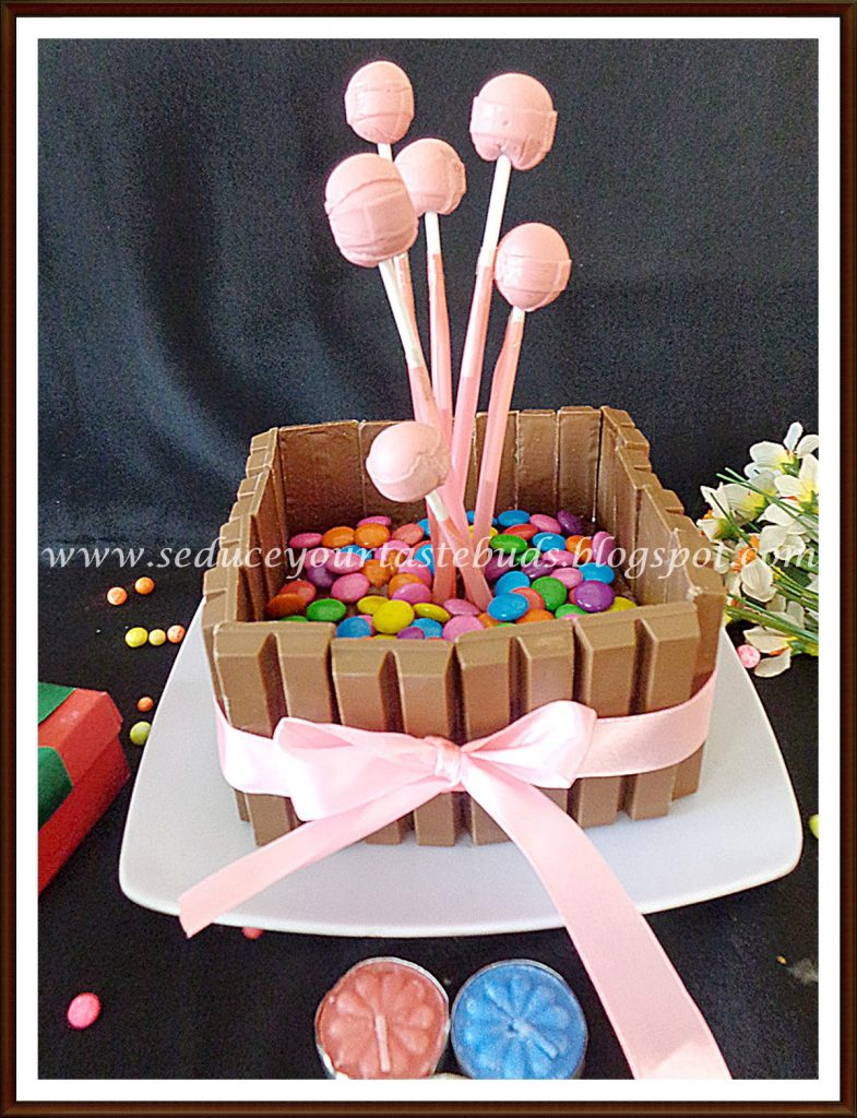 Eggless KitKat Cake for Lil Angels Birthday Seduce Your