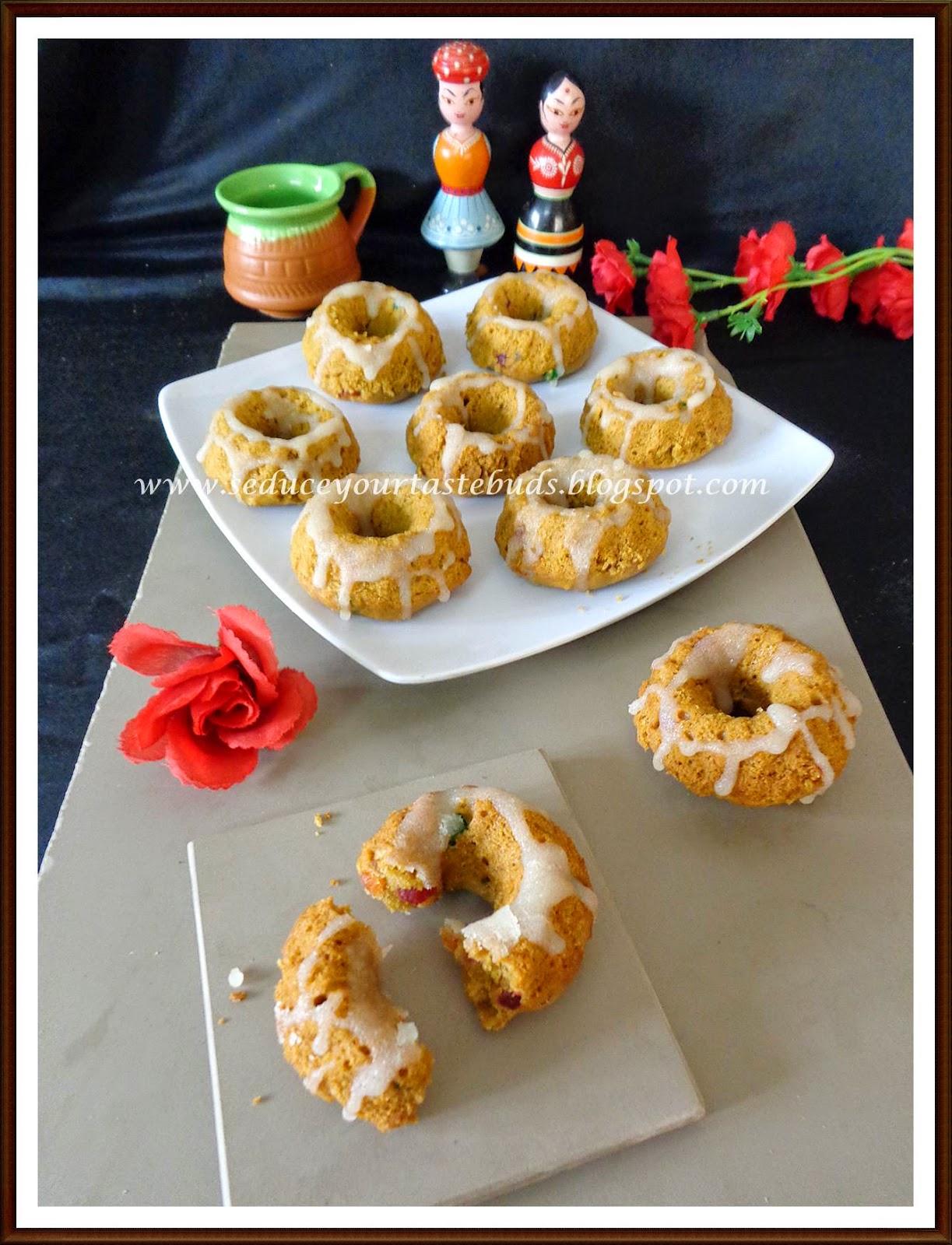 Eggless Whole Wheat Jaggery Mini Bundt Cake Seduce Your