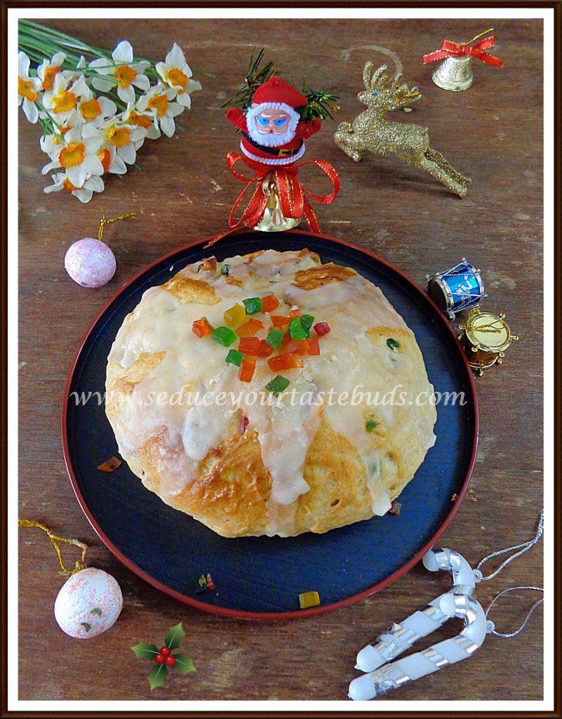 Eggless Julekake or Julekaga (Norwegian Cardamom Scented Christmas ...