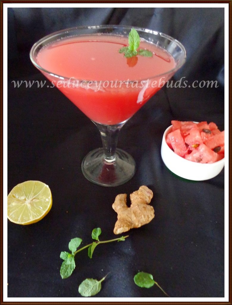 Minty watermelon juice recipe