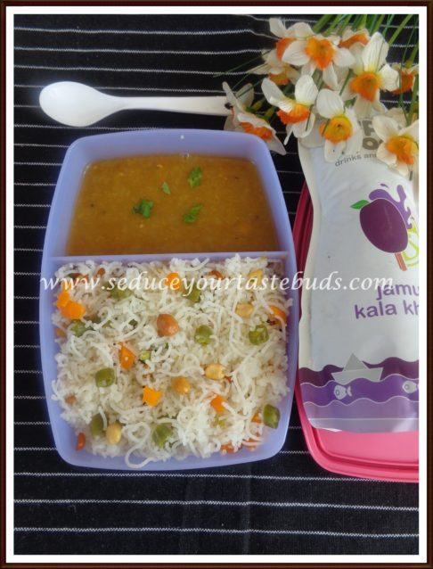 Kids Lunch Box Series #14 | Vegetable Sevai, Sambar,