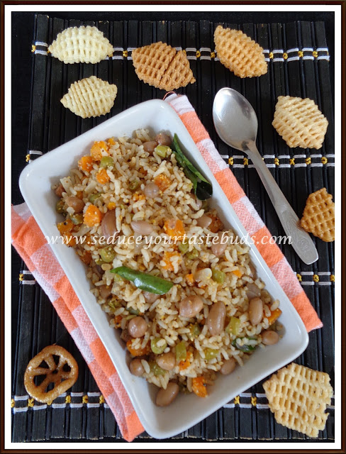 How to make Simple Vegetable and Peanut Rice
