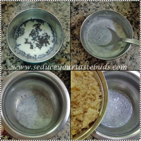 How to make Vanilla flavored Quinoa Basil seed Breakfast Pudding