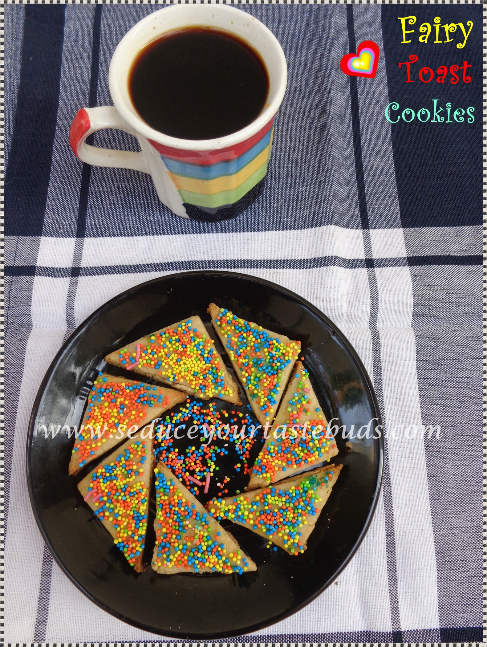 How to make fairy bread toast cookie