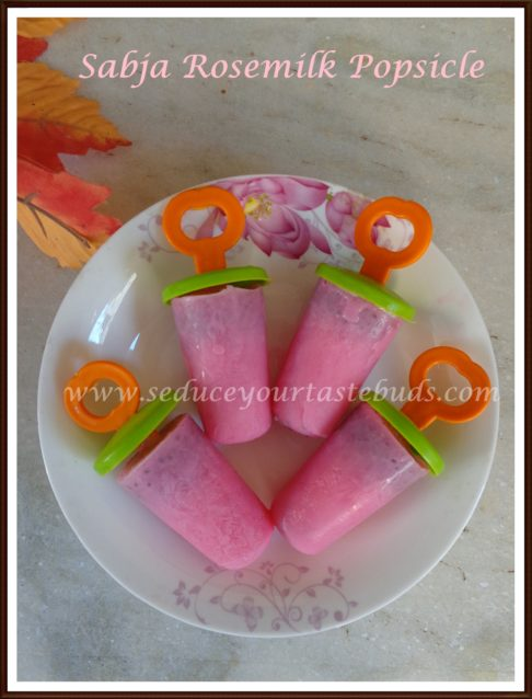 How to make Sabja Rosemilk Popsicle