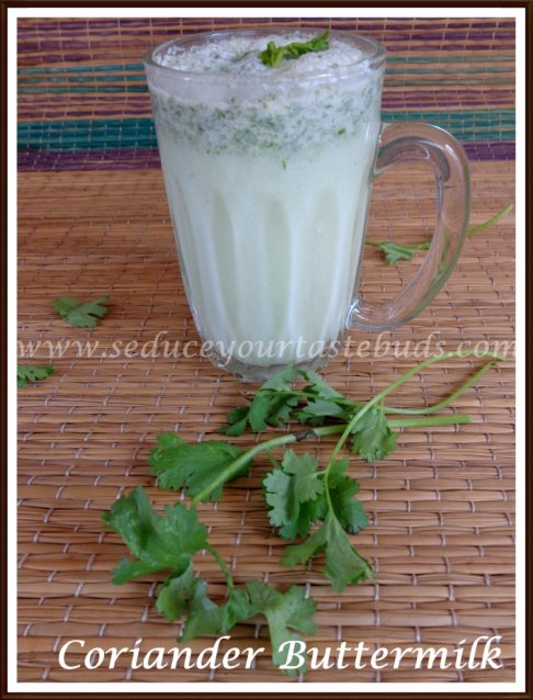 How to make Coriander Flavored Buttermilk Recipe