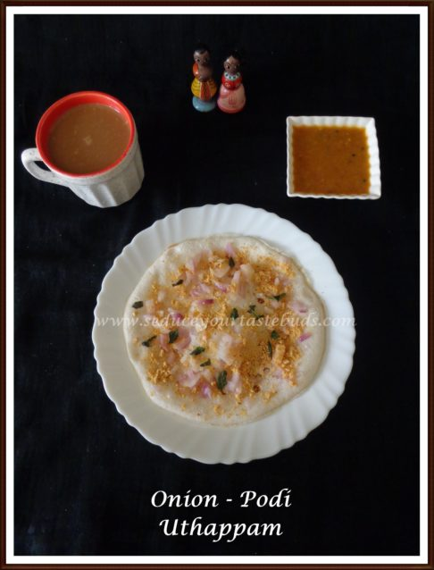 Onion Podi Uthappam Recipe