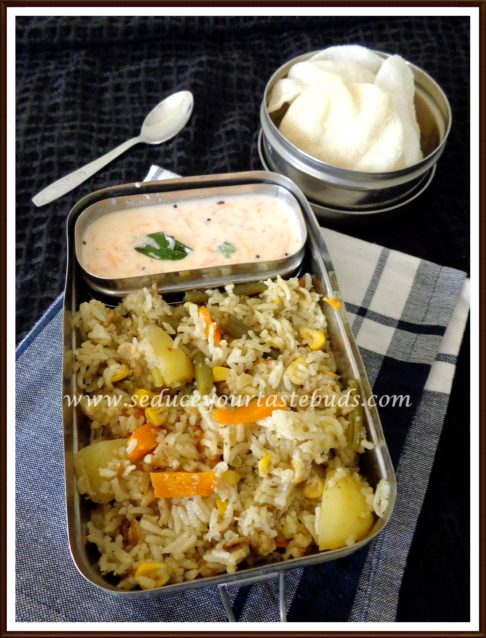 Vegetable Pulao, Raita