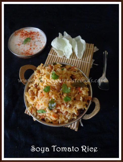 Soya Granules & Tomato Rice
