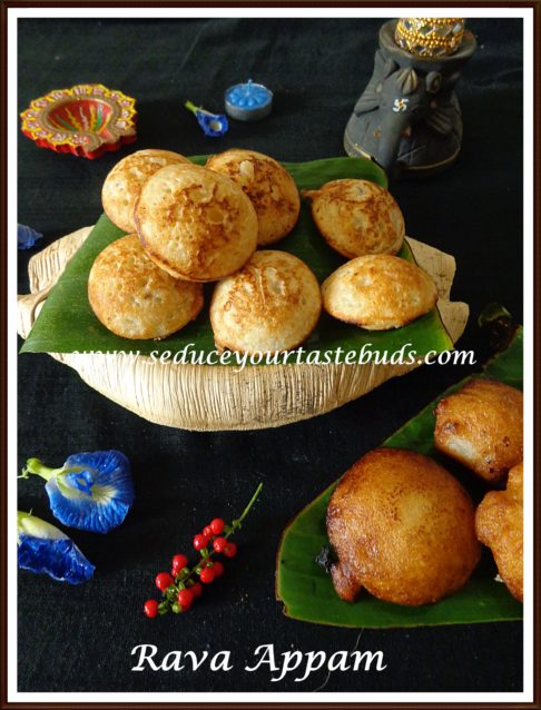 Rava Appam Recipe for Karthigai Deepam
