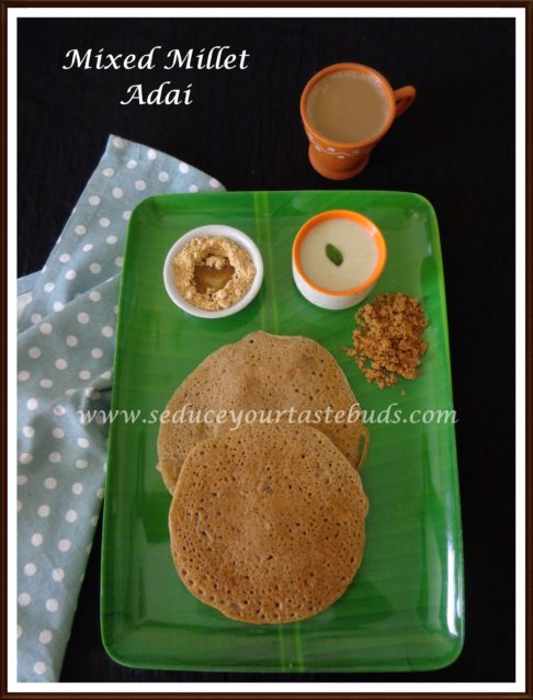 Mixed Millet Adai Recipe