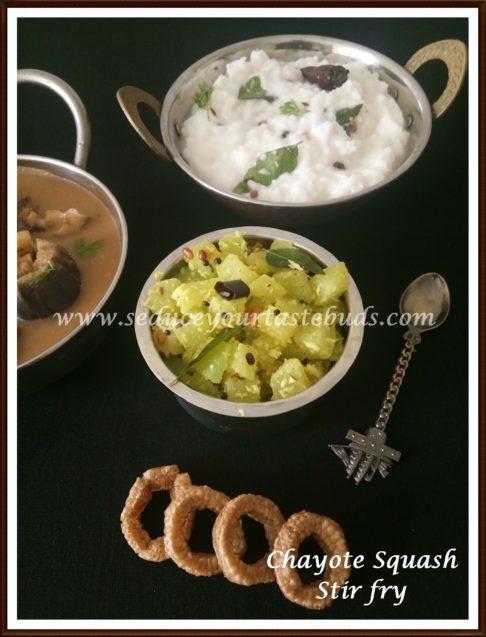 Chow Chow Palya |Chayote Squash Stir-fry Recipe
