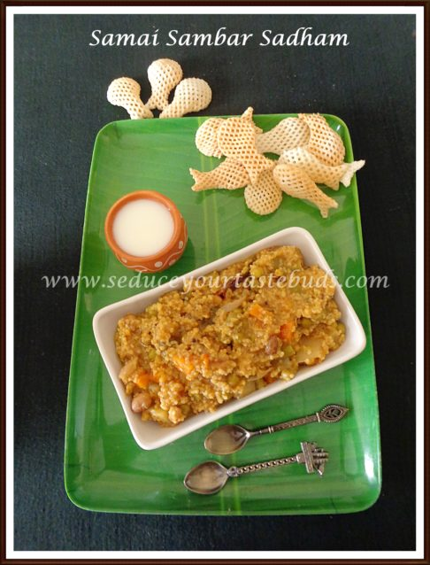 Little Millet [Samai] Sambar Sadham Recipe