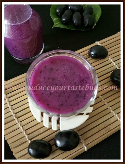 Jamun Fruit Juice Recipe