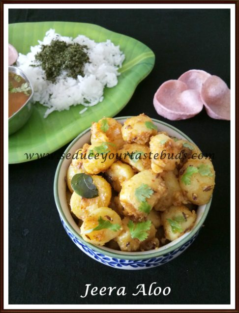 Jeera Aloo Recipe | Cumin Flavored Potato Curry