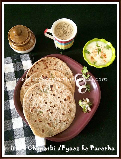 Irulli Chapathi   Pyaaz ka Paratha Recipe