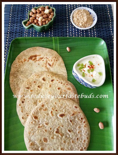 Verkadalai Chapathi | Peanut Spice-mix stuffed Chapathi
