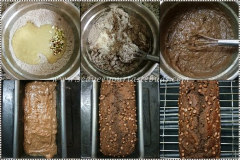 Eggless Chocolate Banana Loaf Cake Recipe