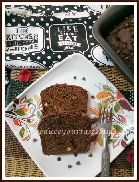Eggless Chocolate Banana Loaf Cake Recipe