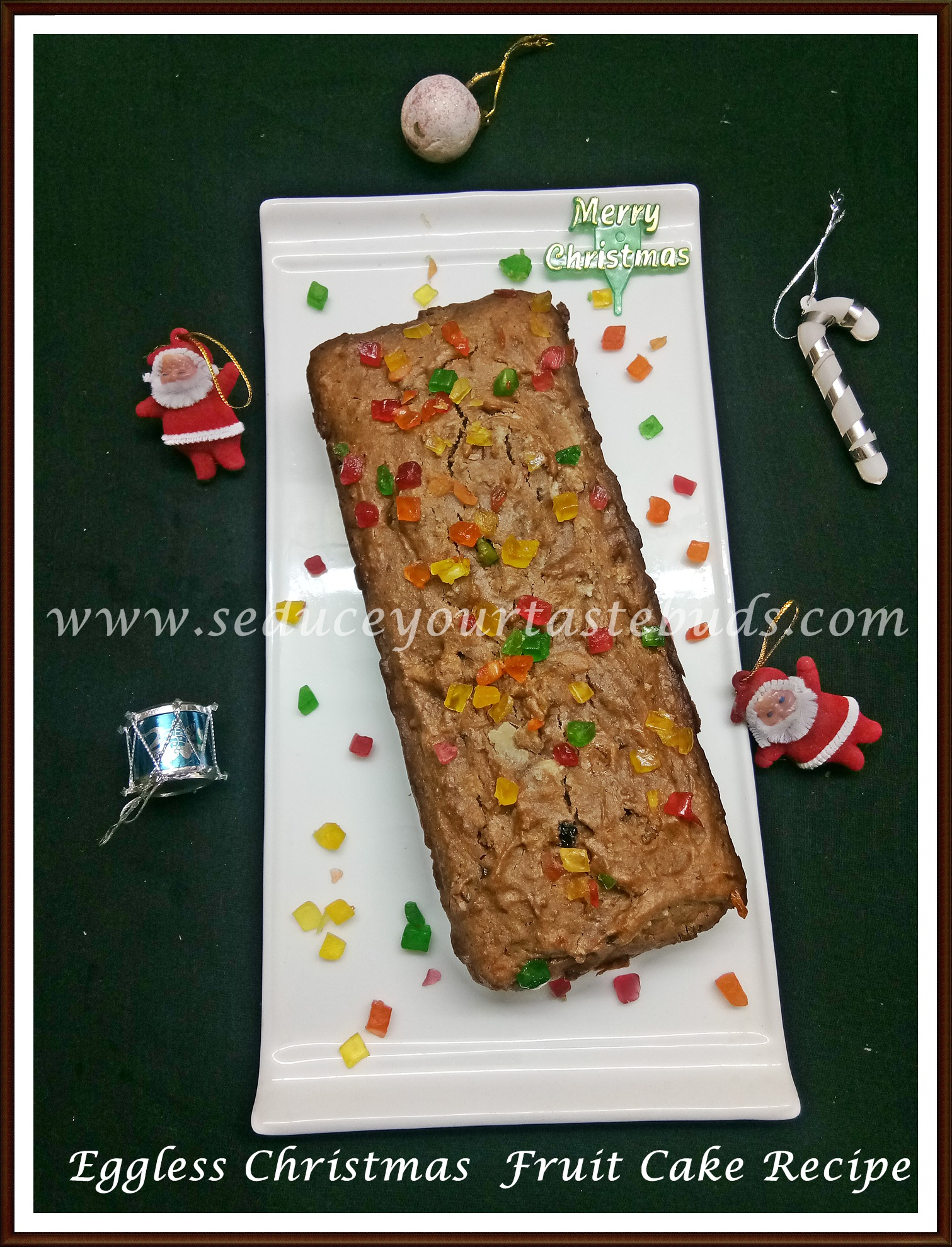 Eggless Christmas Fruit Cake Recipe Using Mincemeat Seduce Your Tastebuds